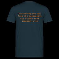 T-Shirts ~ Men's T-Shirt ~ Goverment Theft (Back) T-Shirt