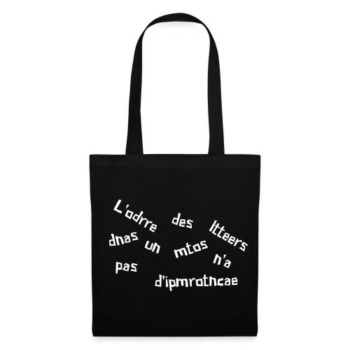 ordre des lettres - Tote Bag