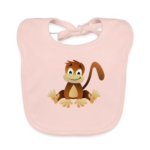 Baby Bio Lätzchen Cute Monkey - Baby Bio-Lätzchen