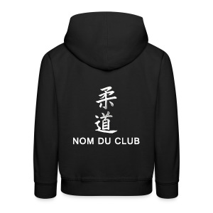 Club! sweat judo jap bas dos - Pull à capuche Premium Enfant