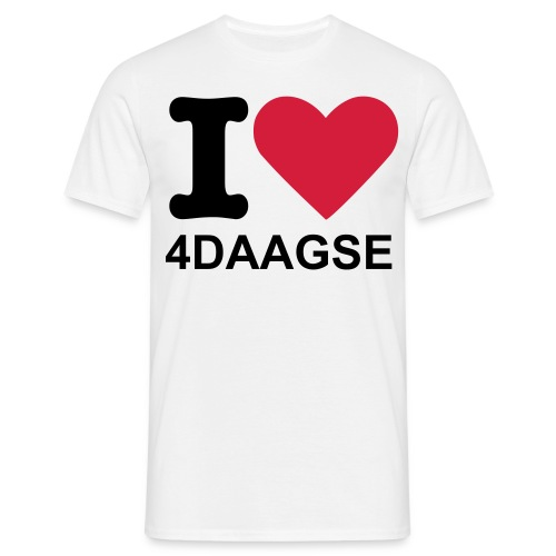 I love 4 daagse Heren - Mannen T-shirt
