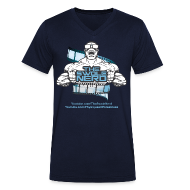 T-Shirts ~ Men's V-Neck T-Shirt ~ Swole Nerd Blue VNECK