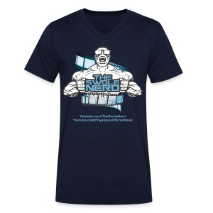 Swole Nerd Blue VNECK - Men's Organic V-Neck T-Shirt by Stanley & Stella