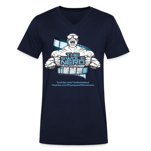 Swole Nerd Blue VNECK - Men's V-Neck T-Shirt