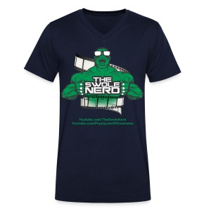 Swole Nerd Green VNECK - Men's V-Neck T-Shirt