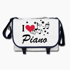 I love piano music * keyboard Music notes Bags