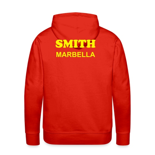 SMITH PADDLE MARBELLA SHOP SWEATER ROJO SPAIN - Sudadera con capucha premium para hombre