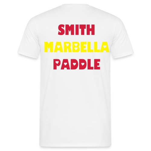 SMITH PADDLE MARBELLA SHOP T-SHIRT BLANCA SPAIN - Camiseta hombre