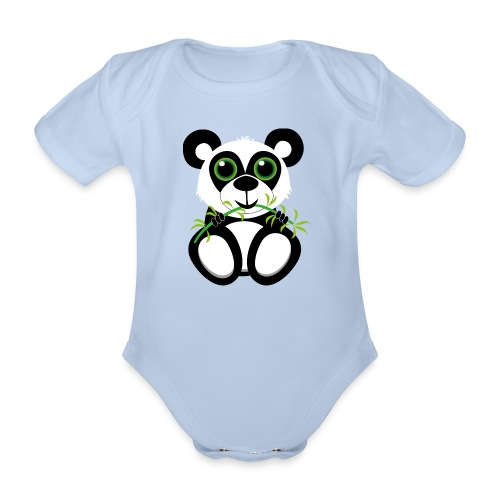 Panda Baby - Baby Bio-Kurzarm-Body