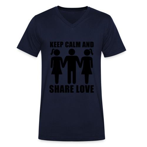 t shirt (v hals) - Mannen bio T-shirt met V-hals van Stanley & Stella