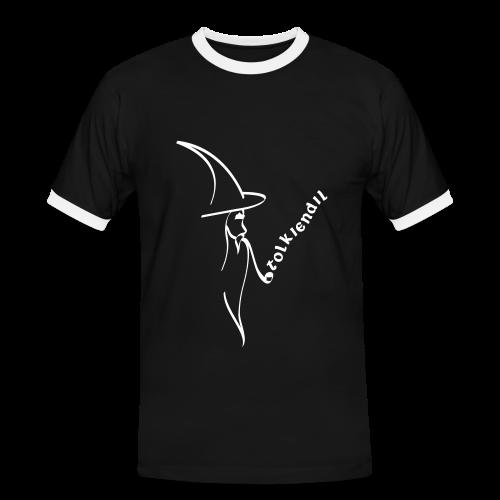 Magicien Tolkiendil Blanc T-shirt Homme - T-shirt contrasté Homme