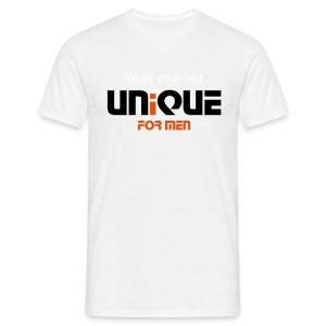 Unique For Men Original Tee- White - Men's T-Shirt