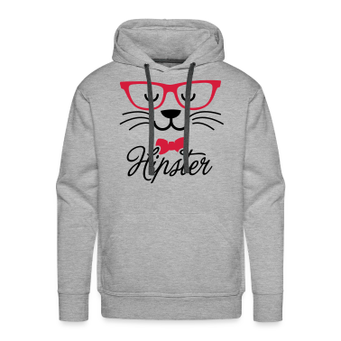 Swag hipsta hipster pussy cat animal style face Hoodies & Sweatshirts