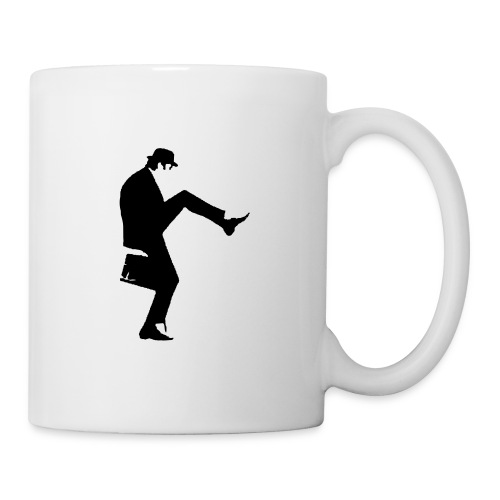 Silly Walks Black and White Mug - Mug