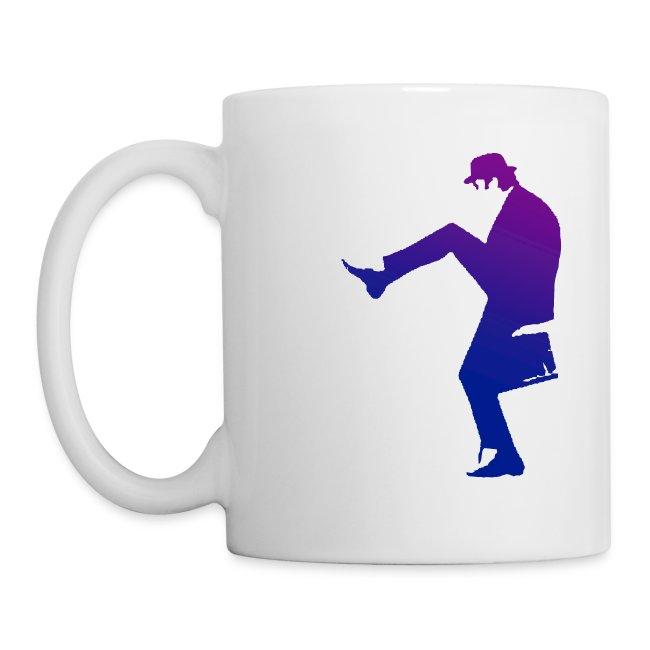 Silly Walks Purple and White Mug