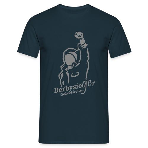 Derbysieger Shirt Motiv silber - Männer T-Shirt