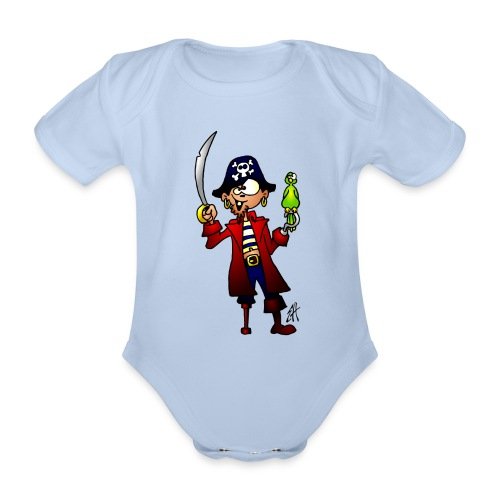 Pirate T-shirts - Organic Short-sleeved Baby Bodysuit
