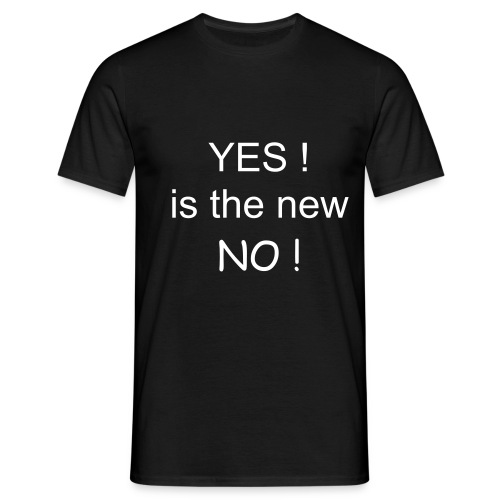 Yes is the new NO (mannen) - Mannen T-shirt