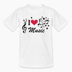 I love Music * music Treble Clef Heart star Shirts