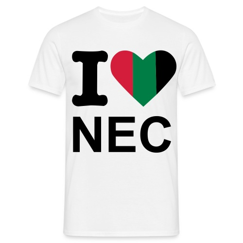I Love NEC Heren - Mannen T-shirt