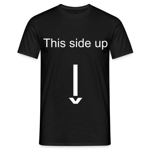 This side up - Männer T-Shirt