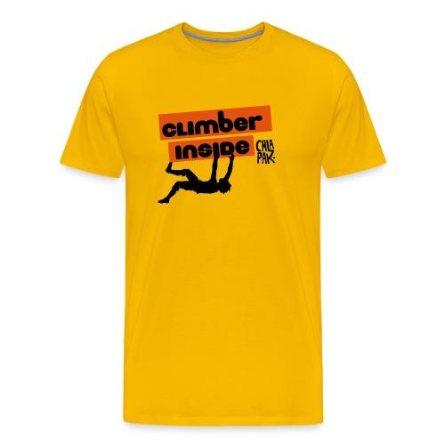 Yellow Climber inside - T-shirt Premium Homme