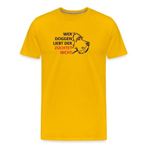 Wer Doggen liebt - Männer Premium T-Shirt