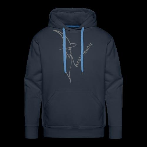 Magicien Tolkiendil Gris Sweat Homme - Sweat-shirt à capuche Premium pour hommes