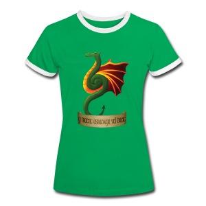 Y maent Asnacwyr vel dreic women's shirt - Women's Ringer T-Shirt