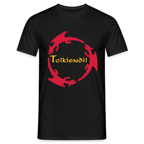 Dragons Tolkiendil Rouge Jaune T-Shirt Homme Couleur - T-shirt Homme