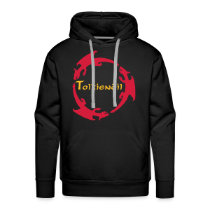 Dragons Tolkiendil Rouge Jaune Sweat Homme - Sweat-shirt à capuche Premium pour hommes