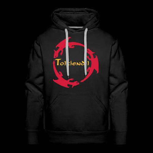 Dragons Tolkiendil Rouge Jaune Sweat Homme - Sweat-shirt à capuche Premium pour hommes