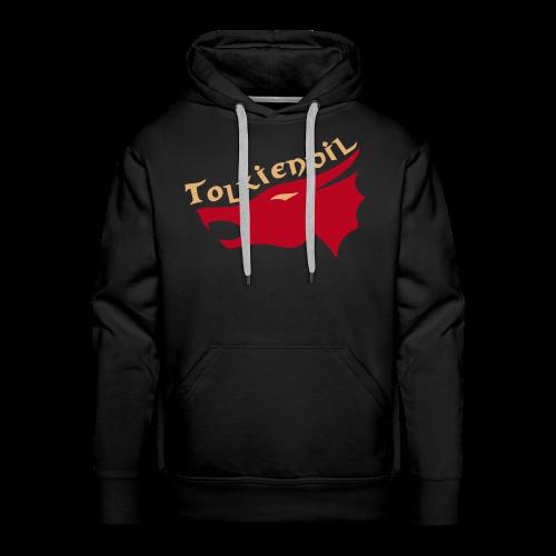 Dragons Tolkiendil Rouge Beige Recto/Verso Flocage Sweat Homme - Sweat-shirt à capuche Premium pour hommes