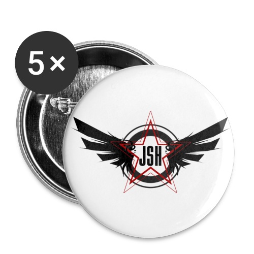 JSH Button Set S Logo #10-b - Buttons small 1''/25 mm (5-pack)