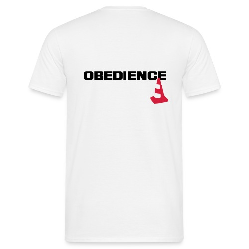 obedience_pylone2 - Männer T-Shirt