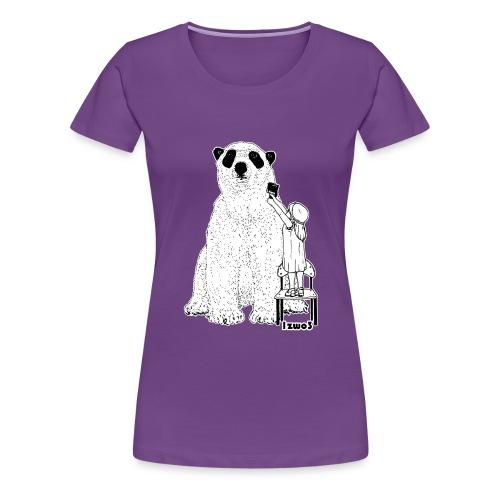 1zwo3 Bär - Frauen Premium T-Shirt