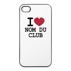 Club! Coque iPhone I LOVE modifiable - Coque rigide iPhone 4/4s