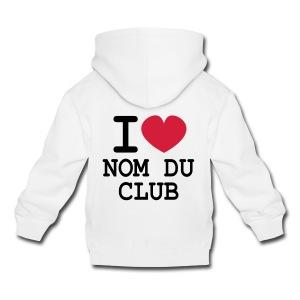 Club! Sweat enfant I LOVE modifiable - Pull à capuche Premium Enfant