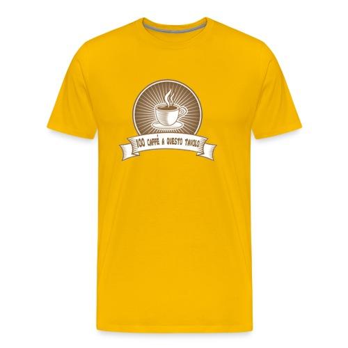 100 caffè - Maglietta Premium da uomo