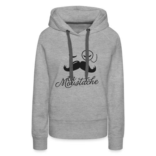 Zwart Glitter - Vrouwen Premium hoodie