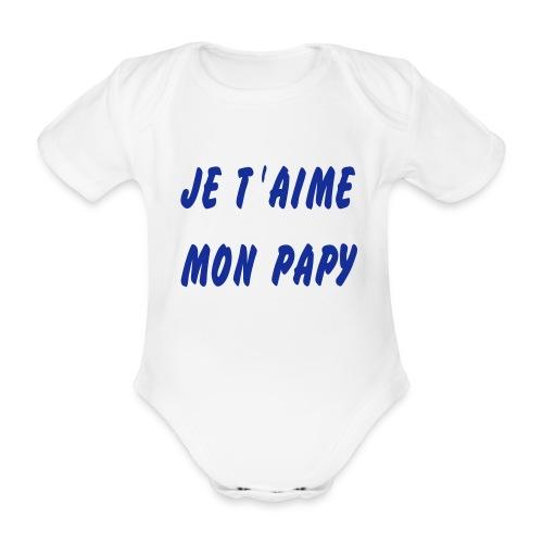 PAPA - Body bébé bio manches courtes