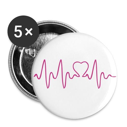 batch med hjerte dialyse - Buttons/Badges stor, 56 mm