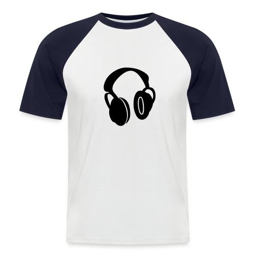 Kopfhörer - Männer Baseball-T-Shirt