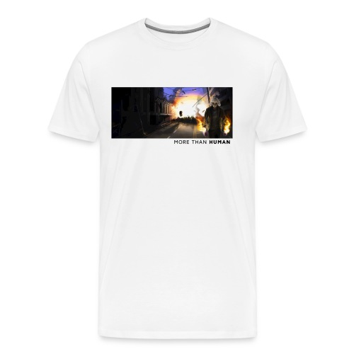 More than Human [svart text/M] - Premium-T-shirt herr