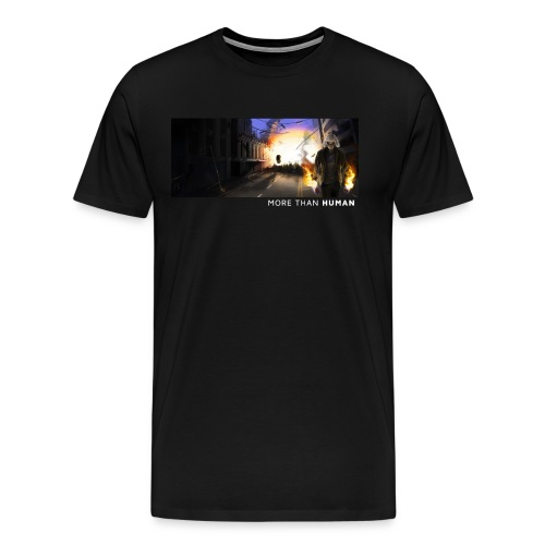 More than Human [vit text/M] - Premium-T-shirt herr