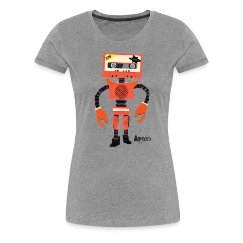 Orange Tape Robo - Vrouwen Premium T-shirt