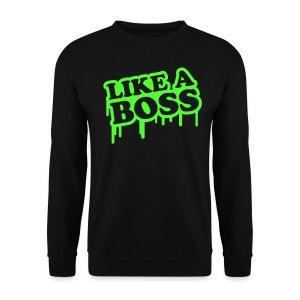 Like A Boss Jumper (Black) - Men's Sweatshirt