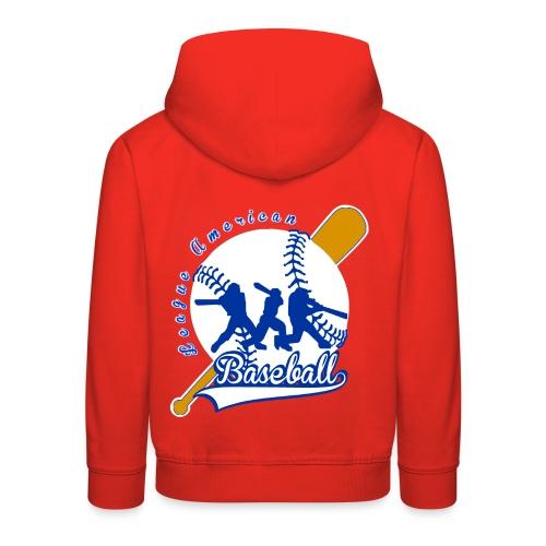 Pull à capuche enfant baseball league american - Pull à capuche Premium Enfant