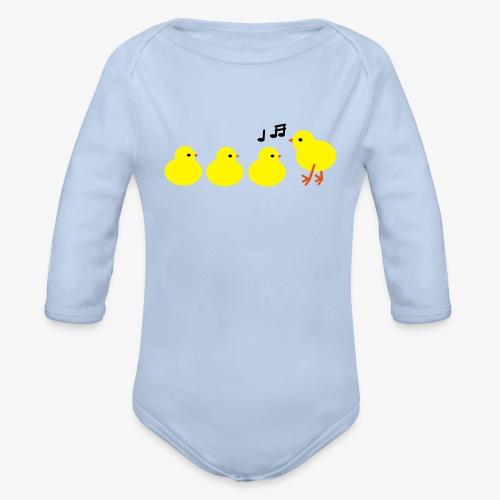 Baby chickies designer patjila - Organic Longsleeve Baby Bodysuit