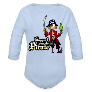 Support your local Pirate Hoodies - Baby bio-rompertje met lange mouwen